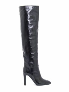 Giuseppe Zanotti Black Patent Leather Knee-high Boots