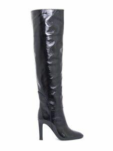 Giuseppe Zanotti Black Patent Leather Knee-high Boots
