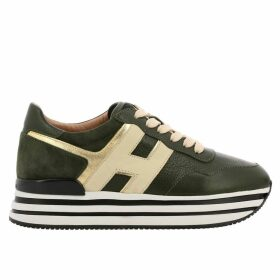 Hogan Sneakers Hogan Sneakers In Smooth Laminated Leather With Suede Heel And 222 Sole