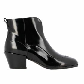 Hogan Flat Booties Hogan Texan Leather Boots