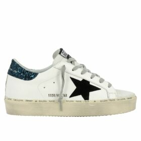 Golden Goose Sneakers Sneakers Hi Star Golden Goose In Leather With Suede Star And Platform Sole
