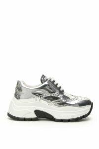 Prada Metallic Calfskin Sneakers