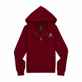 Cotton Mix Zip-Up Hoodie with Logo and Pocket