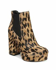 Sam Edelman Women's Abella Leopard-Print Platform Booties