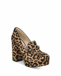 Sam Edelman Women's Aretha Leopard-Print Platform Loafers