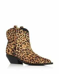 Sigerson Morrison Women's Tacly Leopard Print Calf Hair Booties