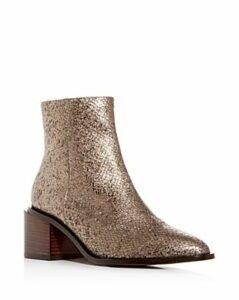 Clergerie Women's Xenia Pointed-Toe Block-Heel Booties