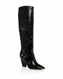 Tory Burch Women's Lila Animal-Embossed Tall Boots