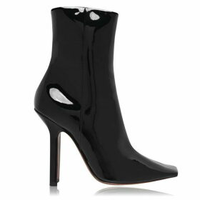 Vetements Boomerange Pantent Leather Ankle Boots