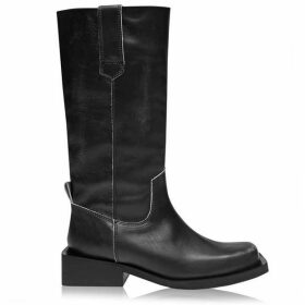 Ganni Mc Square Heel Boots