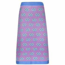 Gucci Gg Knitted Midi Skirt