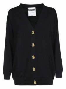 Moschino Embellished Button V-neck Cardigan
