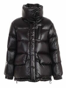 Woolrich Padded Jacket Shirt Collar Side Buttons
