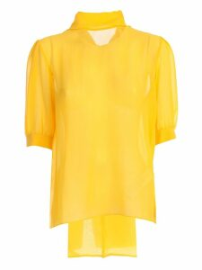 Blumarine Shirt S/s W/collar Knot