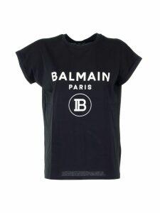 Balmain T-shirt Noir/blanc