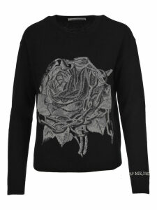 Valentino Rose Intarsia Sweater