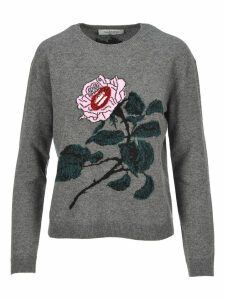 Valentino Rose Embroidered Sweater