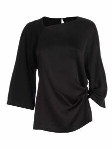 SEMICOUTURE Top Giorgia Crew Neck Asymmetric