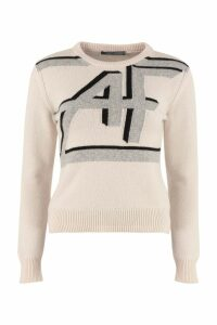 Alberta Ferretti Intarsia Wool And Cashmere Sweater