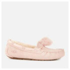 UGG Women's Dakota Pom Pom Moccasin Slippers - Quartz - UK 8