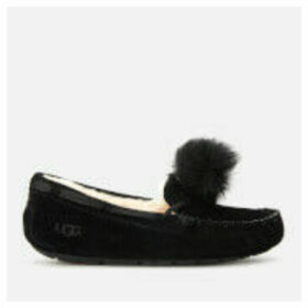 UGG Women's Dakota Pom Pom Moccasin Slippers - Black - UK 4
