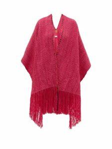 Wehve - Ava Oversized Merino-blend Cape - Womens - Pink