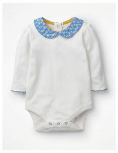 Supersoft Collared Body Blue Baby Boden, Ivory