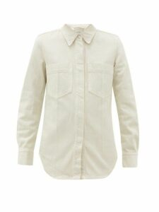 Lemaire - Patch-pocket Denim Overshirt - Womens - Ivory