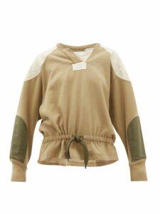 Isabel Marant Étoile - Nifen Panelled Cotton Jersey Sweatshirt - Womens - Khaki