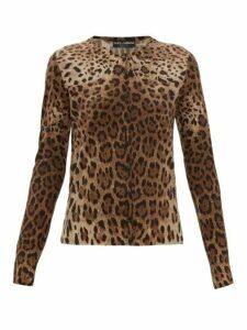 Dolce & Gabbana - Leopard-print Virgin-wool Cardigan - Womens - Leopard