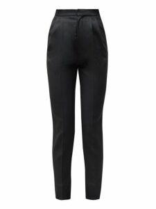 Saint Laurent - High-rise Wool Trousers - Womens - Black