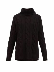 Nili Lotan - Brynne Roll-neck Cable-knit Cashmere Sweater - Womens - Black