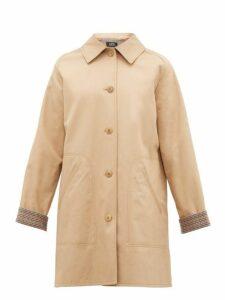 A.p.c. - India Cotton Gabardine Overcoat - Womens - Beige
