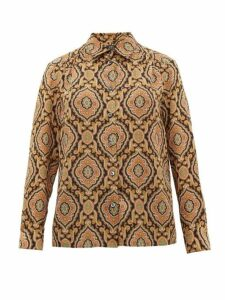 A.p.c. - Sutton Paisley-print Silk Shirt - Womens - Multi