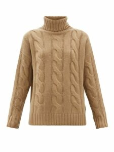Nili Lotan - Brynne Cable-knit Cashmere Sweater - Womens - Beige