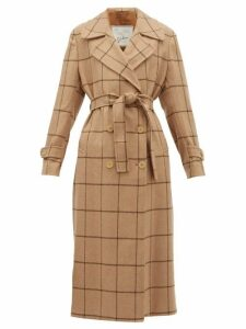 Giuliva Heritage Collection - The Christie Checked Wool Trench Coat - Womens - Camel