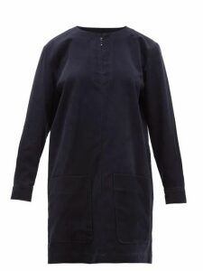 A.p.c. - Andrea Cotton Blend Corduroy Mini Dress - Womens - Navy