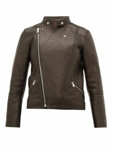 A.p.c. - Florence Leather Biker Jacket - Womens - Black