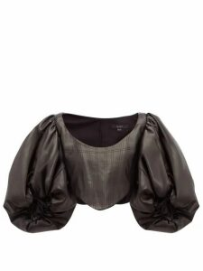 Ellery - Sister Morphine Balloon-sleeve Faux-leather Top - Womens - Black