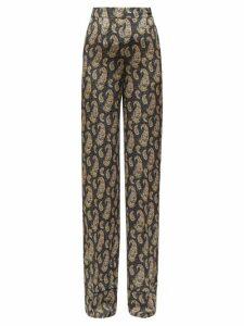 Altuzarra - Bani Paisley-print Silk Wide-leg Trousers - Womens - Black Print