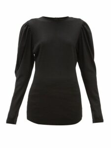 Isabel Marant - Davallia Wool-jersey Top - Womens - Black