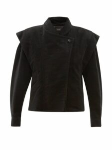 Isabel Marant - Dina Double Breasted Cotton Moleskin Jacket - Womens - Black