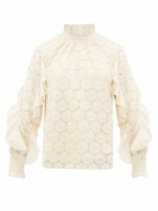 Apiece Apart - Rio Cotton-blend Broderie-anglaise Blouse - Womens - Cream