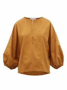 Apiece Apart - Bequia Balloon-sleeve Cotton-poplin Top - Womens - Camel