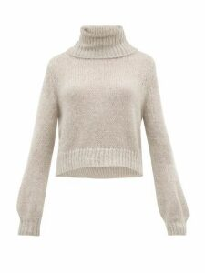 Apiece Apart - Ishia Cropped Roll Neck Sweater - Womens - Grey