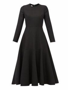 Valentino - Wool-blend Midi Dress - Womens - Black