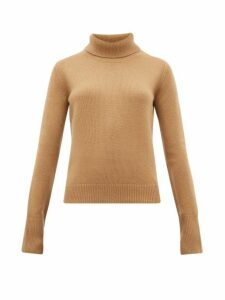 Joseph - Slashed-cuff Cashmere Roll-neck Sweater - Womens - Camel