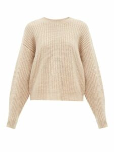 Ryan Roche - Dropped Shoulder Cashmere Blend Sweater - Womens - Beige