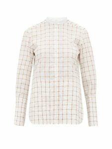 Chloé - Checked Cotton-blend Shirt - Womens - White Multi