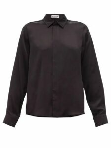 Balenciaga - Silk-satin Blouse - Womens - Black